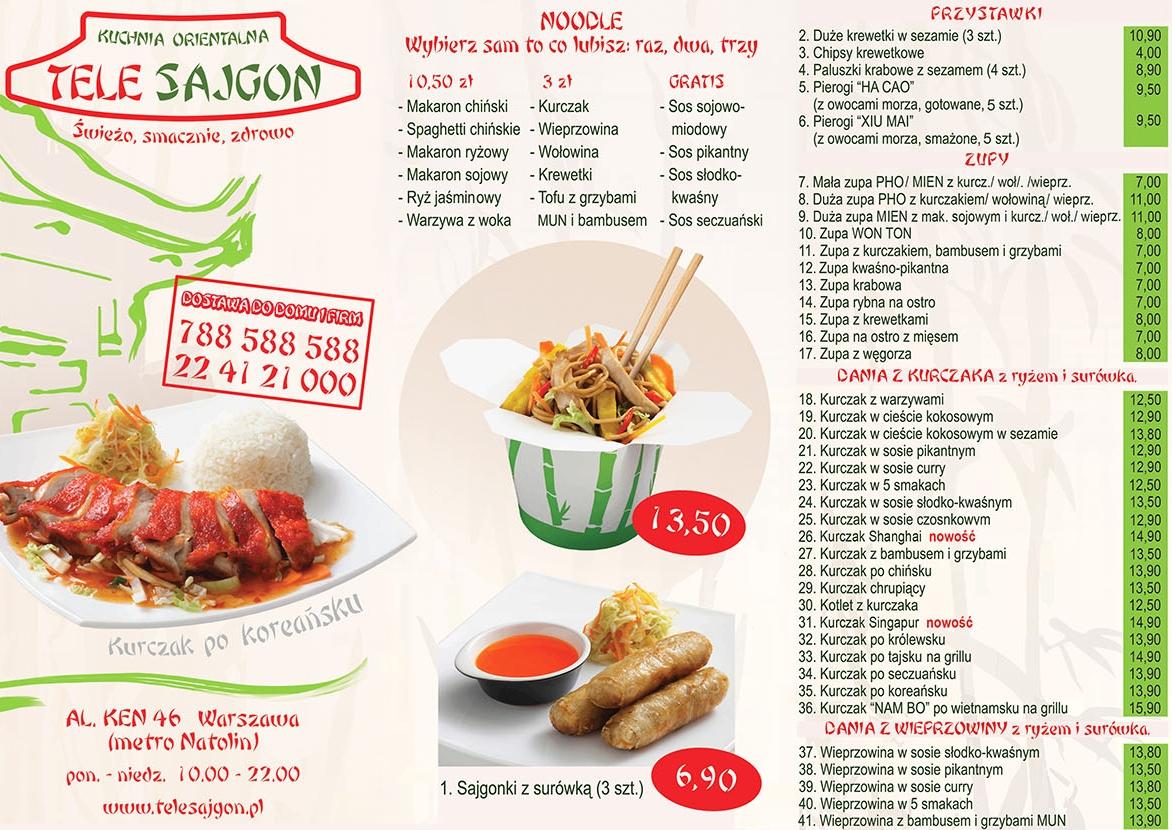 Telesajgon Kuchnia Orientalna Ursynówazpl Firma